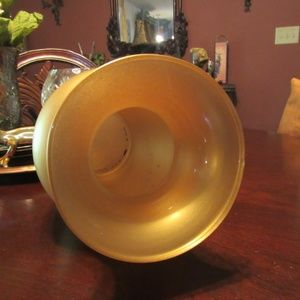 Vintage Accents - Vintage Small Fluted Gold Smooth Glass Vase